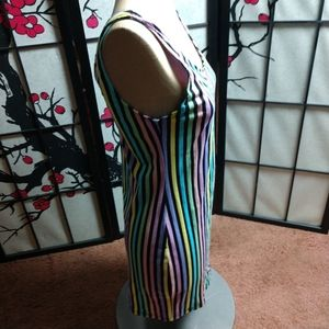 Dolls Kill Dresses - Dolls kill Motel striped minidress👗 rainbow 🌈 M